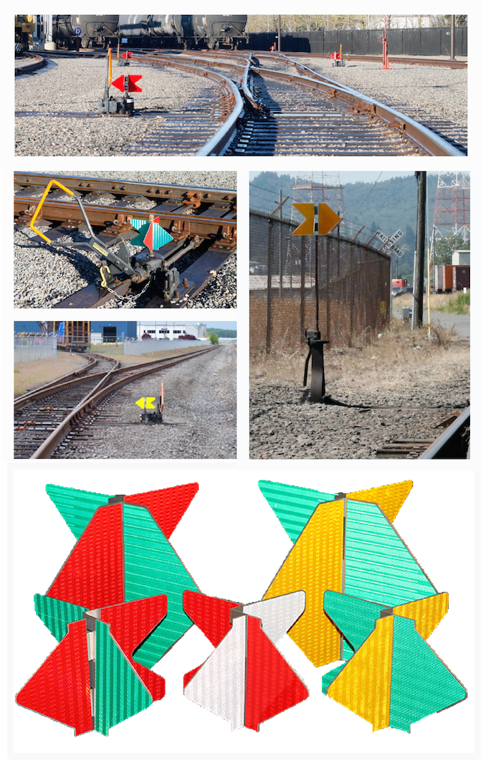 good railroad switch targets