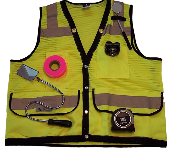 Railroad Track Inspection Vest